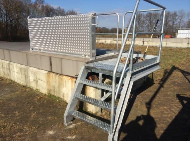 galesloot contructie project waternet toegansmiddelen trappen bordessen